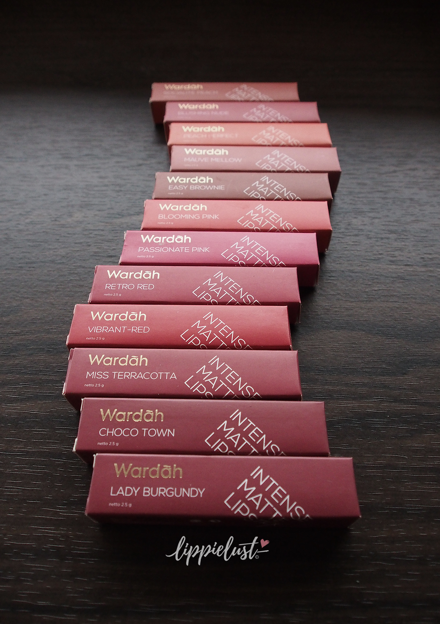 12 shades of Wardah Intense Matte Lipstick