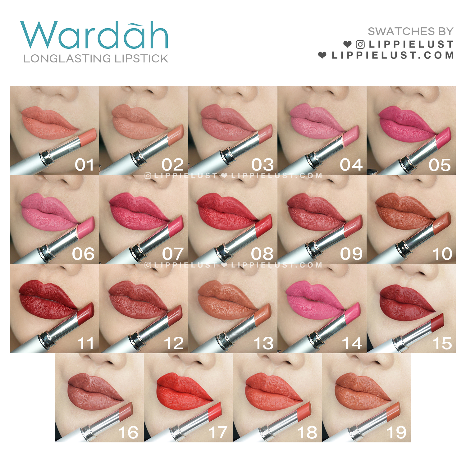 [SWATCH & REVIEW] Wardah Beauty Long Lasting Lipstick