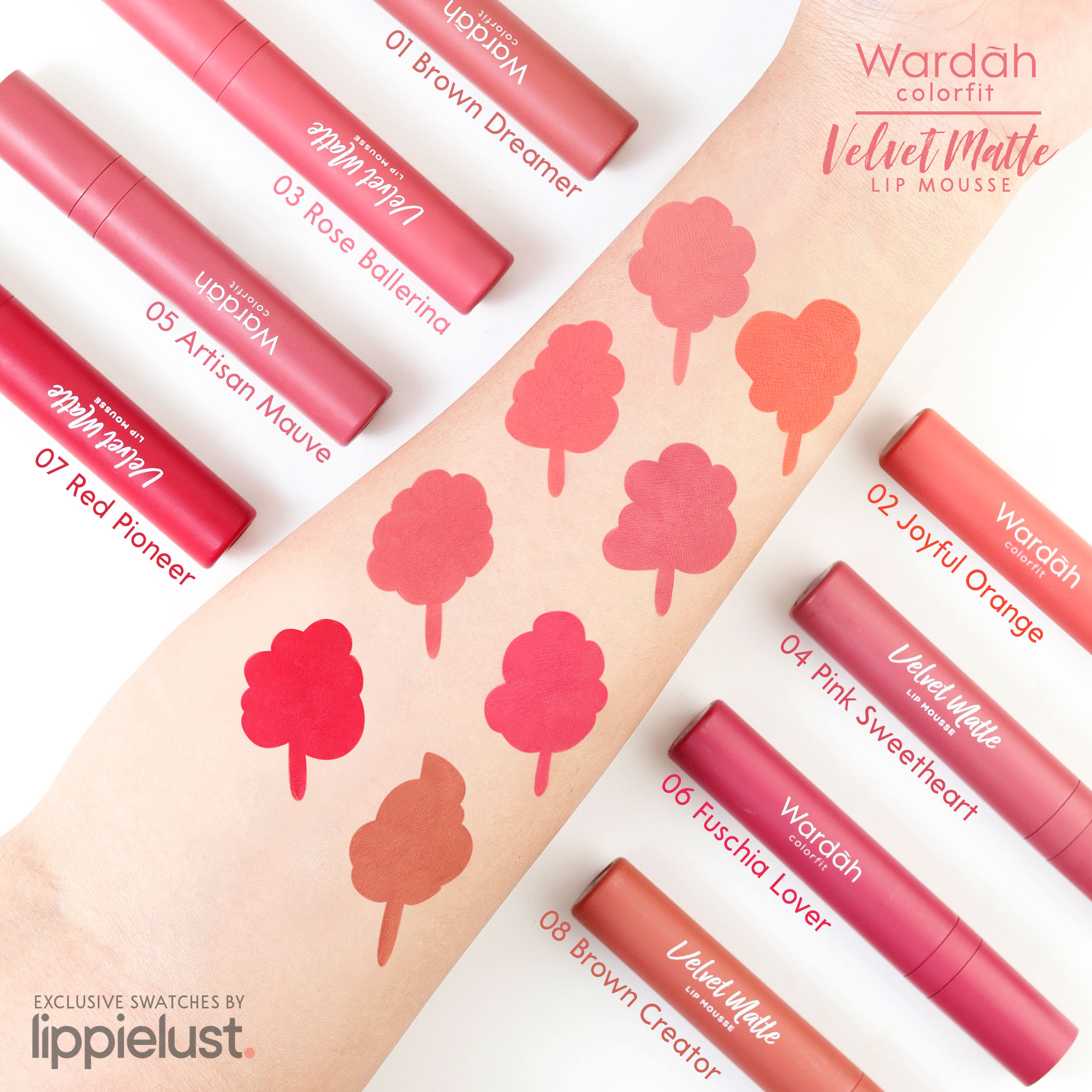 [SWATCHES & REVIEW] WARDAH COLORFIT VELVET MATTE LIP